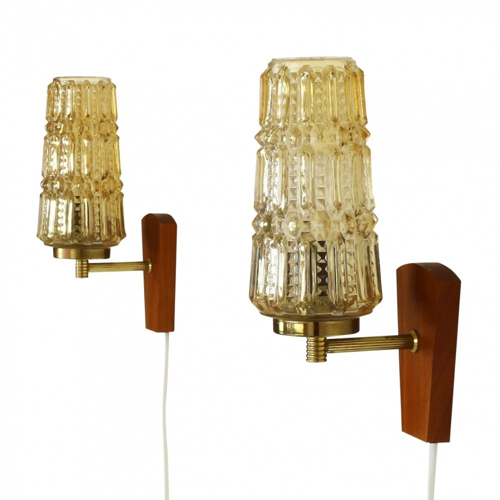 Set of 2 wall lamps from the sixties by sv mejlstrom for ms ...