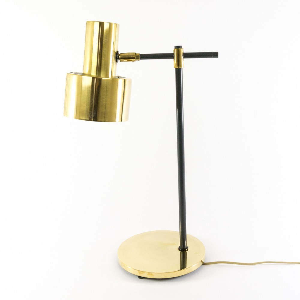 Lento   Brass Desk Lamp By Jo Hammerborg For Fog U0026 Mørup, 1960s