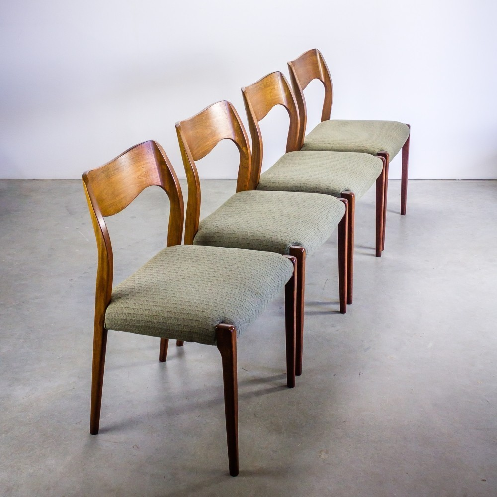 Nr 71 Dinner Chair by Niels Otto Møller for J L Møller