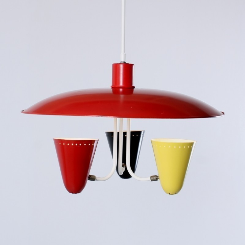 Saucer Light Hanging Lamp by H. Busquet for Hala Zeist