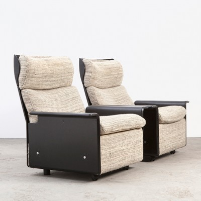 Pair of 620 Series lounge chairs by Dieter Rams for Vitsoe, 1960s