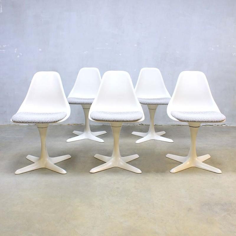 Set Of 5 Dinner Chairs By Maurice Burke For Arkana, 1960s