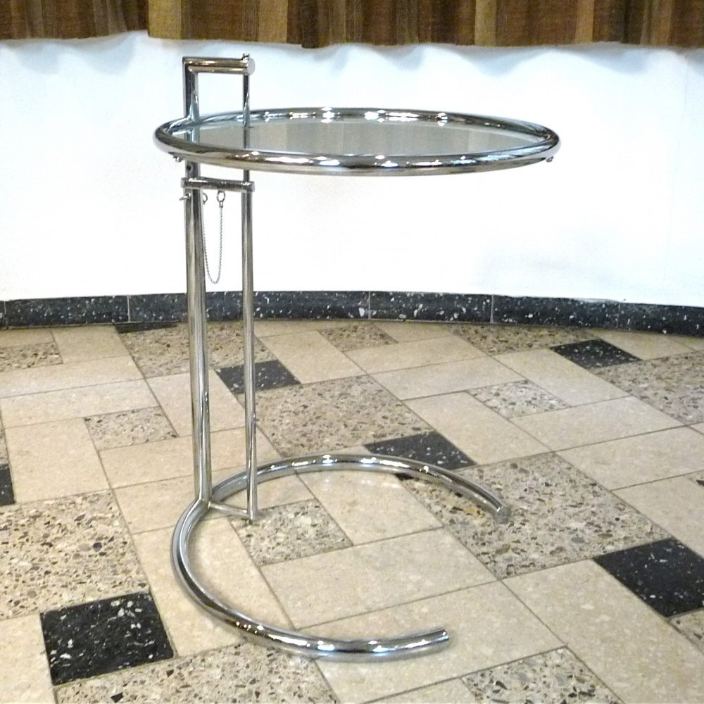 E 1027 - Adjustable Table Side Table by Eileen Gray for Classicon