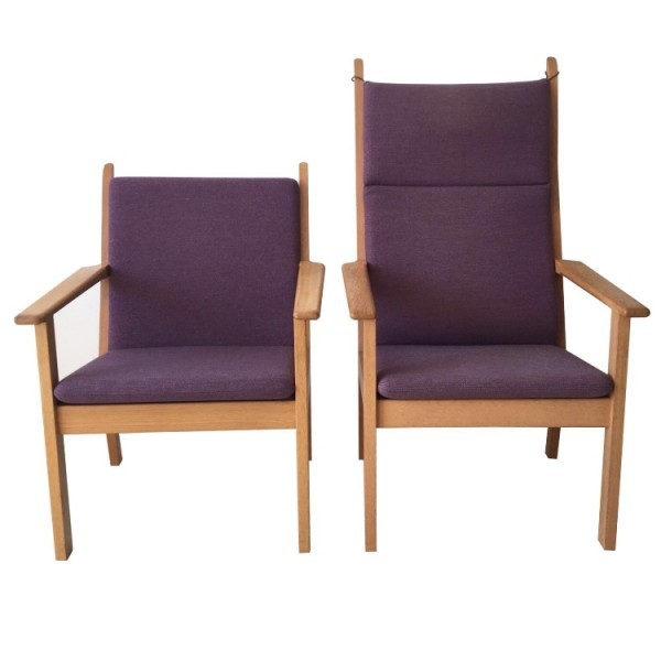 GE 284 and GE 284A Arm Chair by Hans Wegner for Getama