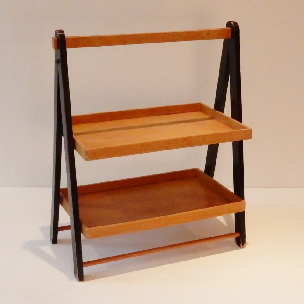 Foldable Tray Side Table, 1940s