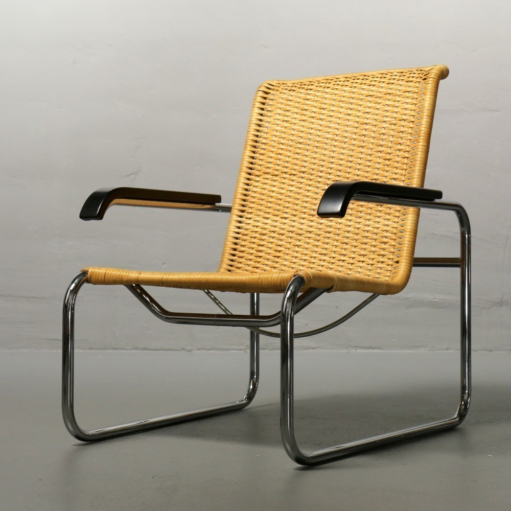 2 x s35 lounge chair by marcel breuer for thonet 1920s