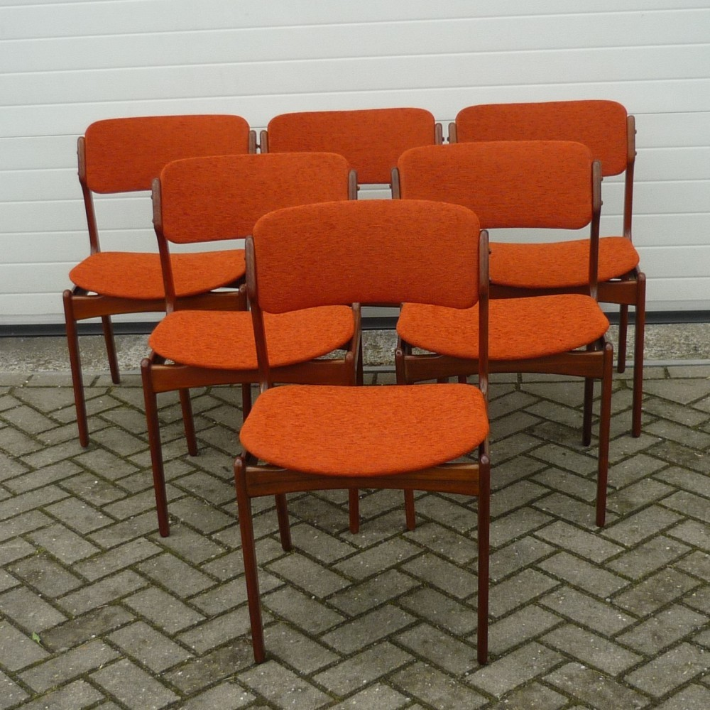 Set of 6 dinner chairs by Erik Buck for OD M¸bler 1960s