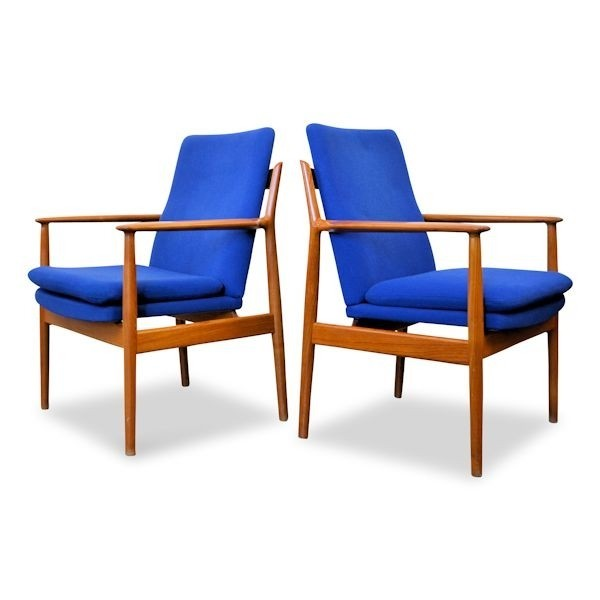 Merveilleux Pair Of Model 341 Lounge Chairs By Arne Vodder For Sibast, 1950s