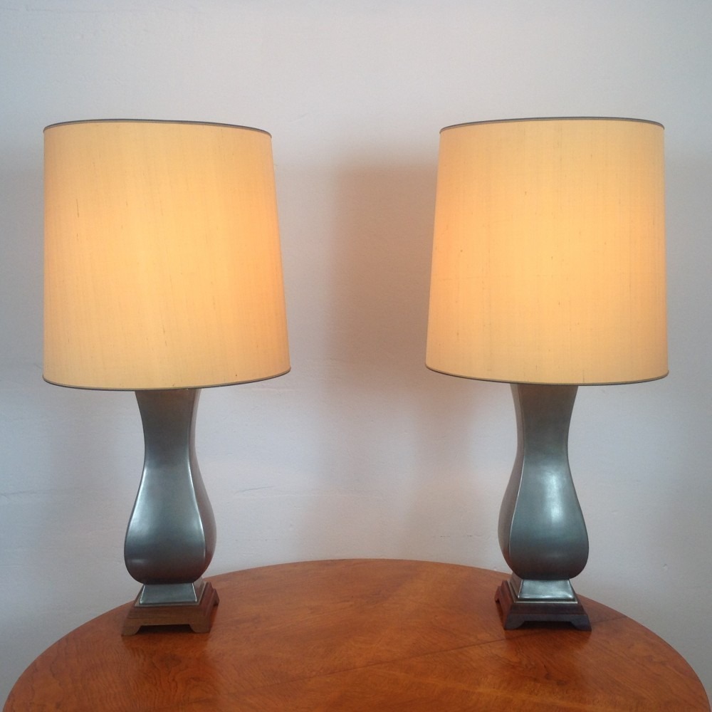 Pair Of Desk Lamps By Gerald Thurston For Lightolier Usa 1960s