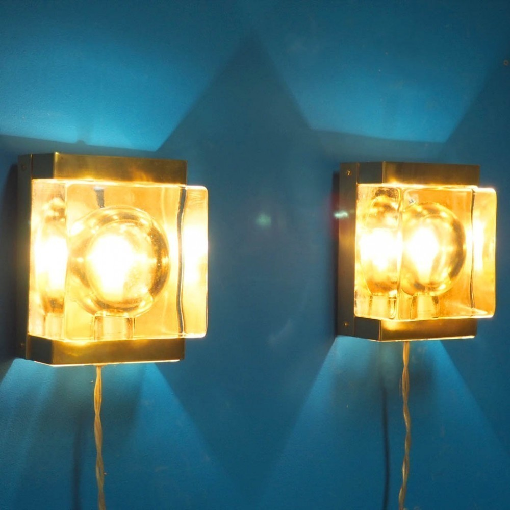 Set of 2 Maritim wall lamps from the seventies by Unknown Designer for Vitrika