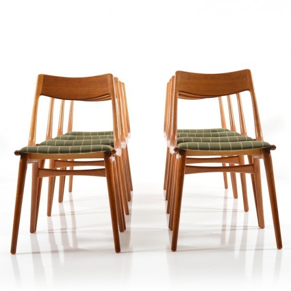 Set Of 8 Boomerang No. 370 Dinner Chairs By Alfred Christensen For Slagelse  Møbelværk,