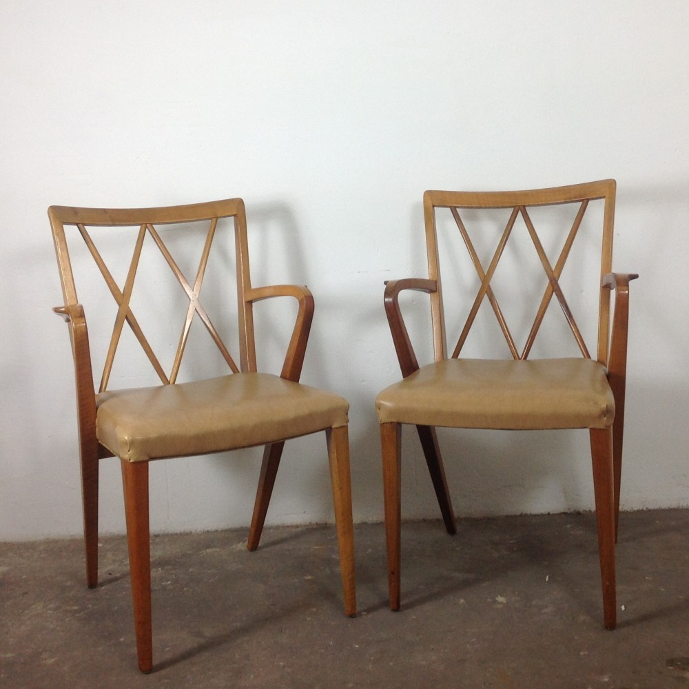 Pair of arm chairs by A. Patijn for Zijlstra Joure, 1950s
