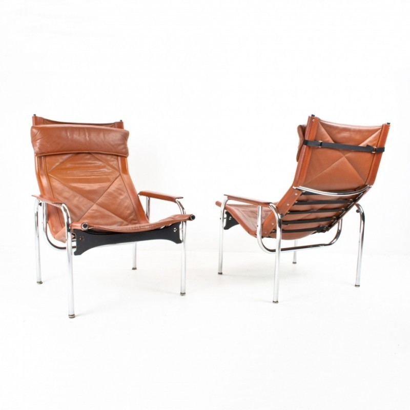 2 lounge chairs from the sixties by Hans Eichenberger for Strässle