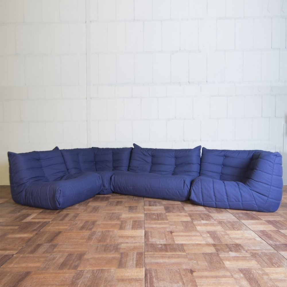 Set of 4 Togo sofas from the seventies by Michel Ducaroy for Ligne Roset