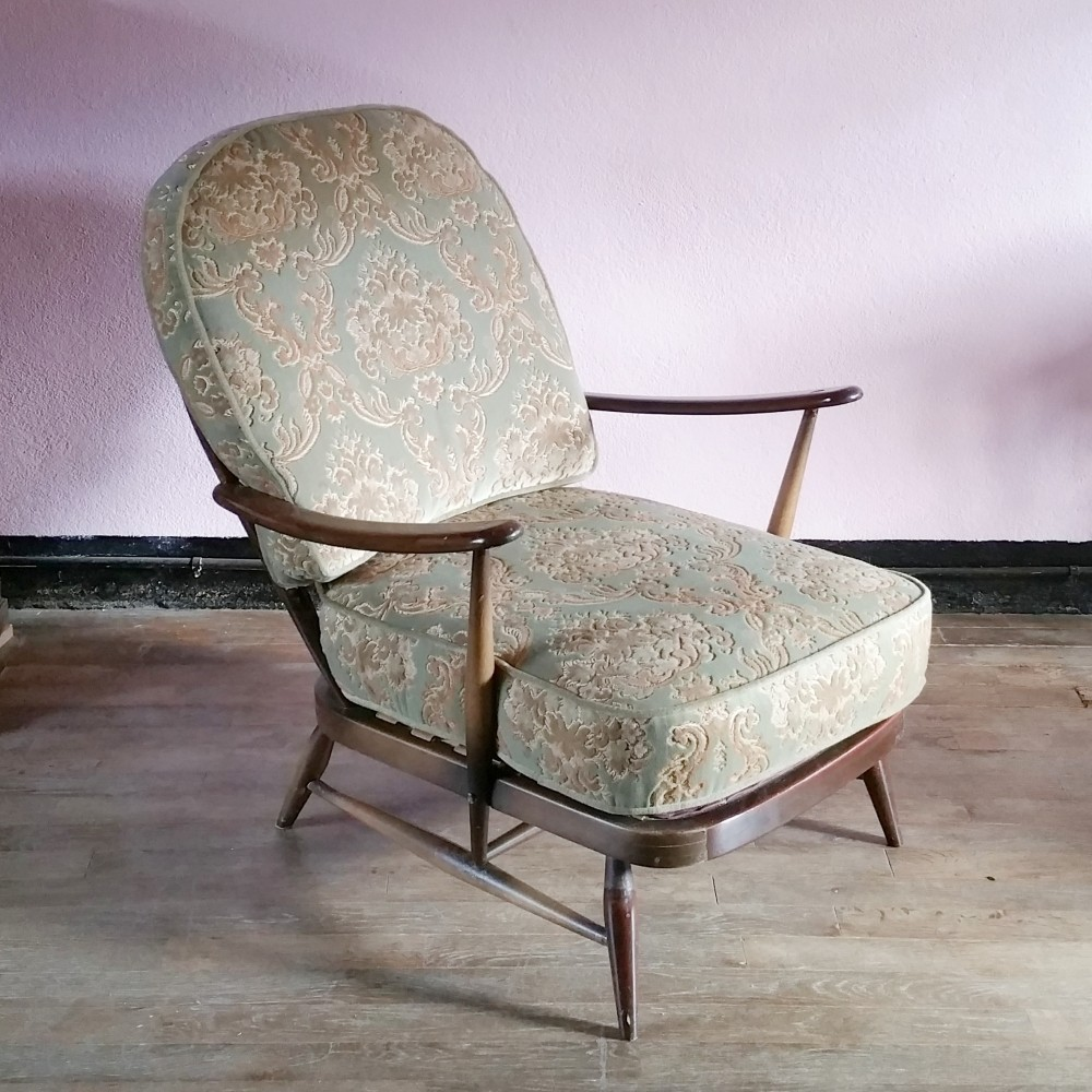 Fleur De Lys Windsor Lounge Chair By Lucian Randolph Ercolani For Ercol 1960s