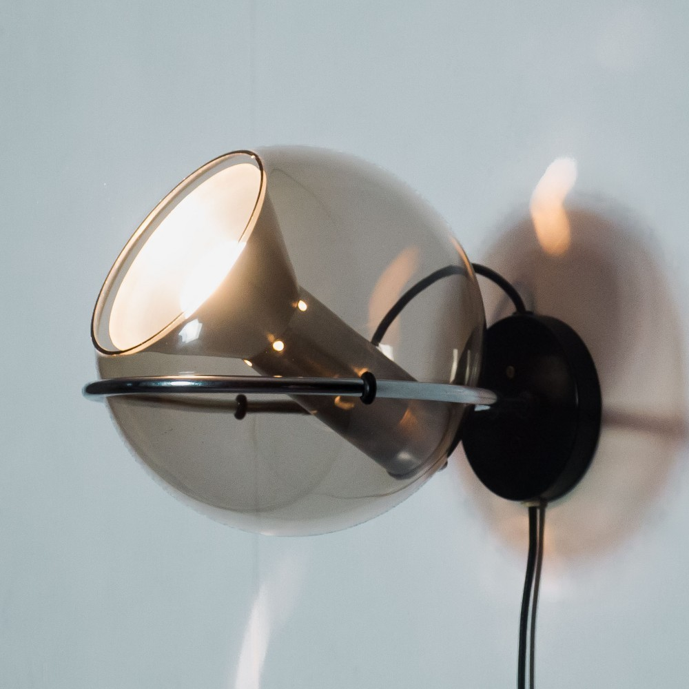 Globe Wall Lamp from the sixties by Frank Ligtelijn for Raak Amsterdam
