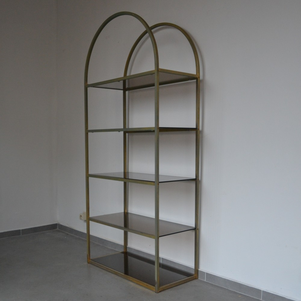 brass etagere cabinet 1970s 53515. Black Bedroom Furniture Sets. Home Design Ideas