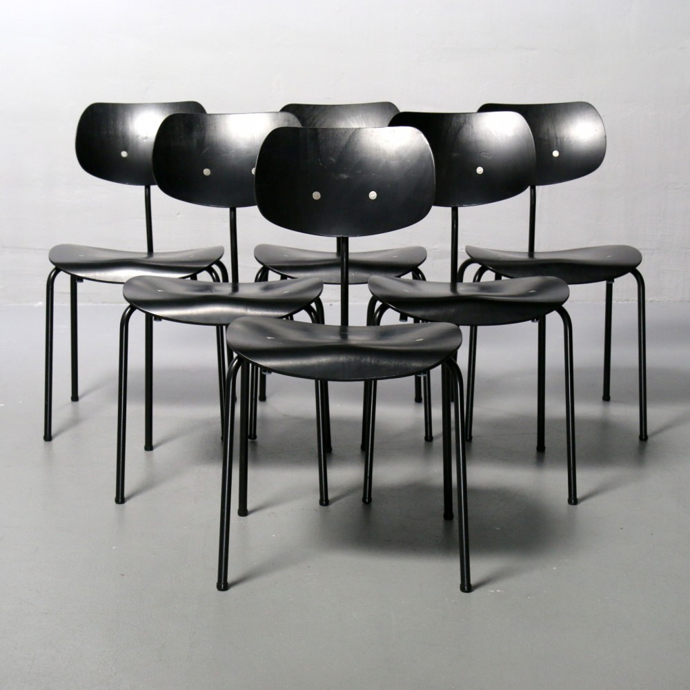 96 x se 68 dinner chair by egon eiermann for wilde und spieth 1950s 53571. Black Bedroom Furniture Sets. Home Design Ideas