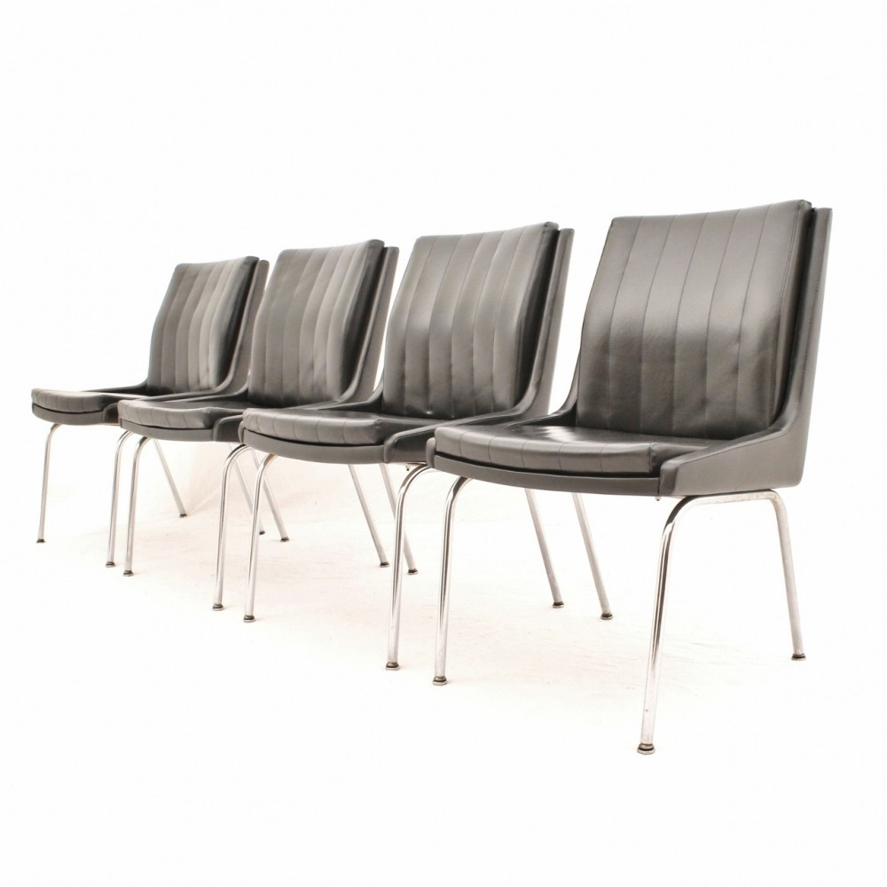 Astounding Swiss Design Dining Chairs In Black Vinyl By Martin Stoll Gmtry Best Dining Table And Chair Ideas Images Gmtryco
