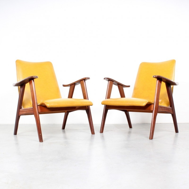 Set of 2 arm chairs from the sixties by Louis van Teeffelen for Wébé