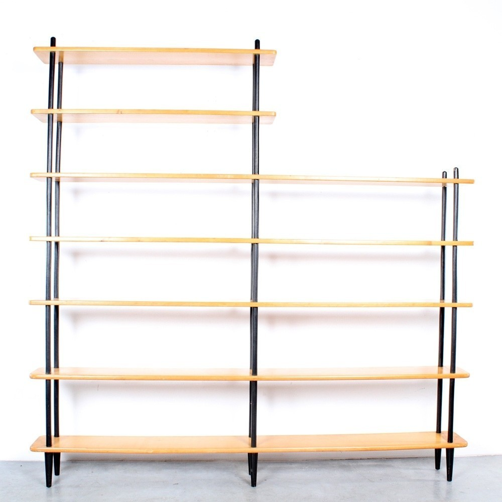 Sticks Cabinet Wall Unit from the fifties by Willem Lutjens for Gouda den Boer