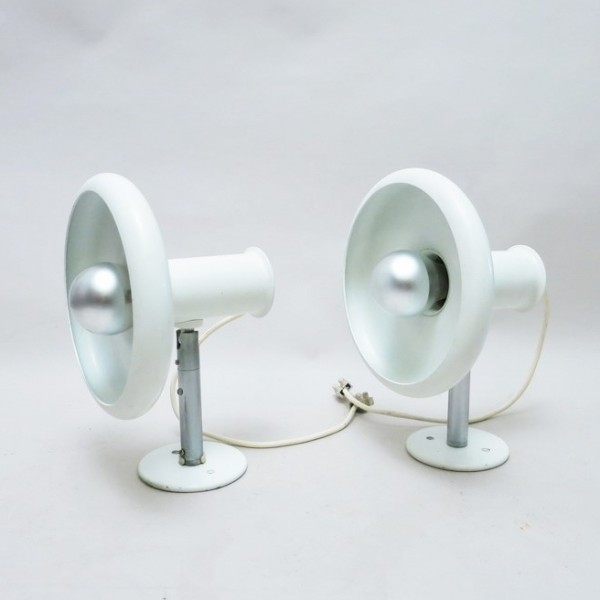 Set of 2 Optima wall lamps from the sixties by Hans Due for Fog & Mørup