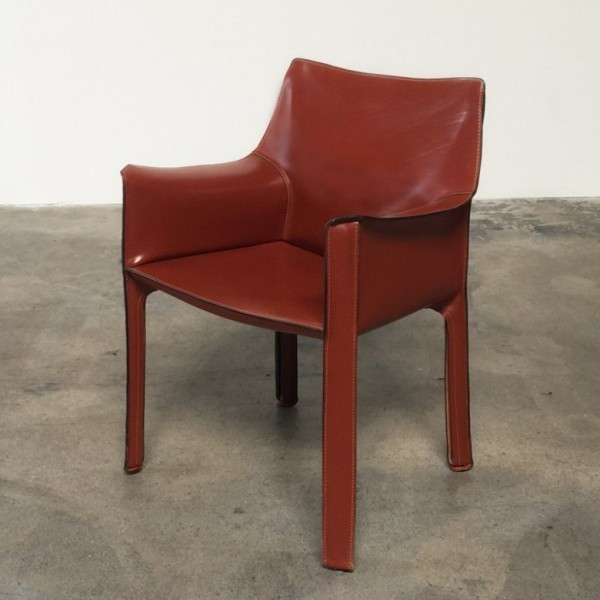 Set of 4 Cab 413 dinner chairs from the seventies by Mario Bellini for Cassina
