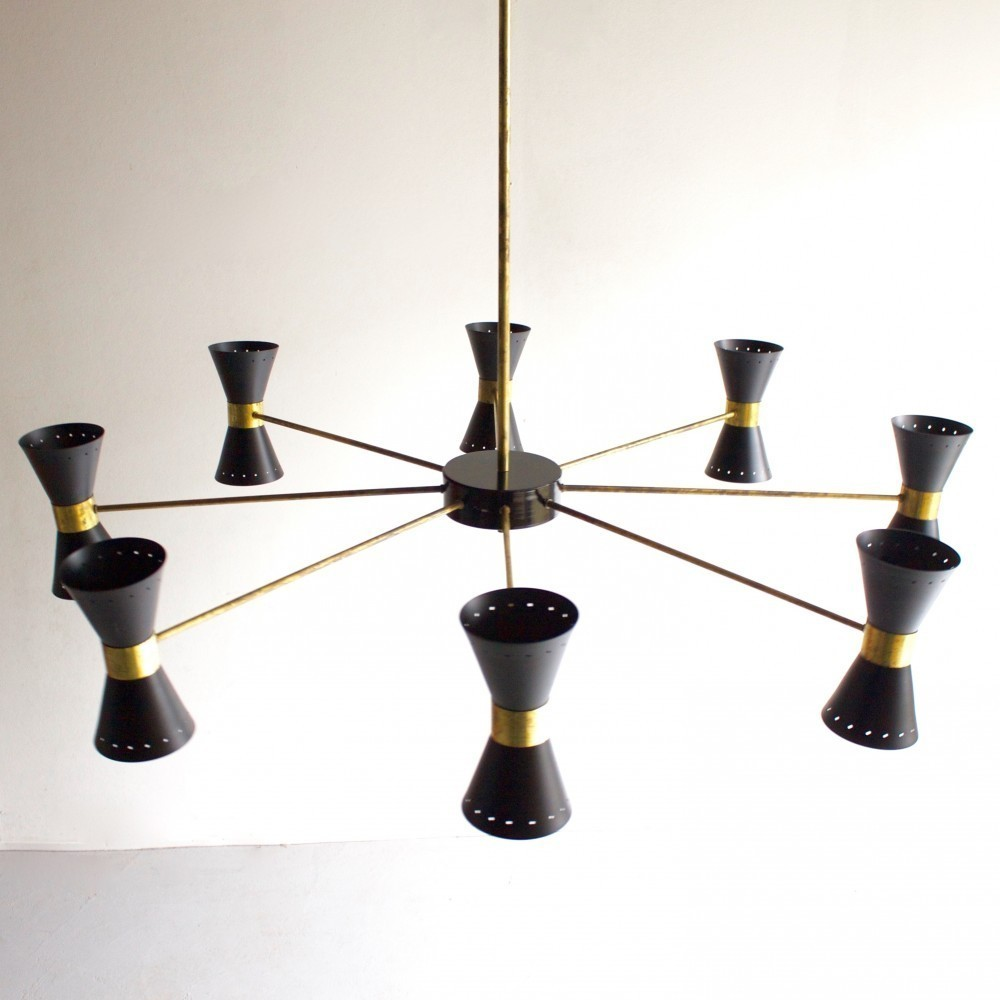 2 Diabolo hanging lamps from the sixties by Unknown Designer for Unknown Producer