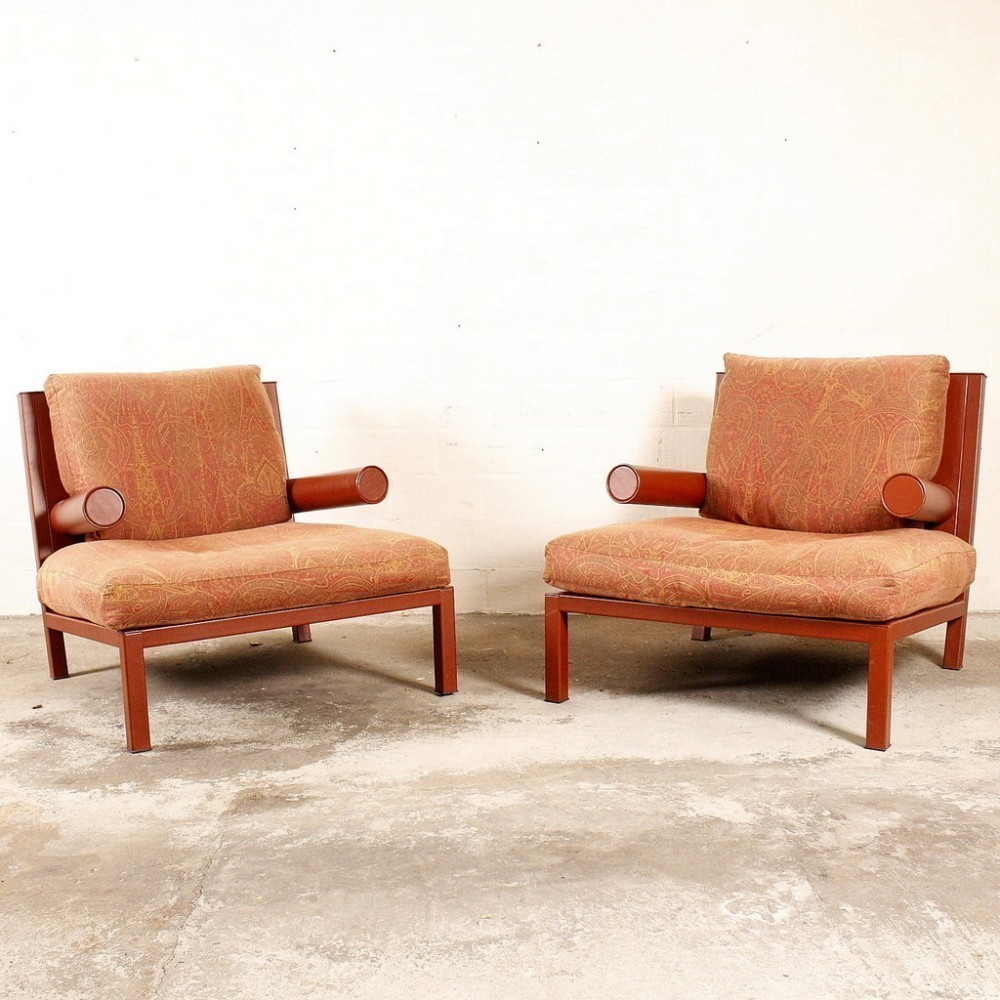 2 x Baisity lounge chair by Antonio Citterio for B & B Italia, 1980s ...