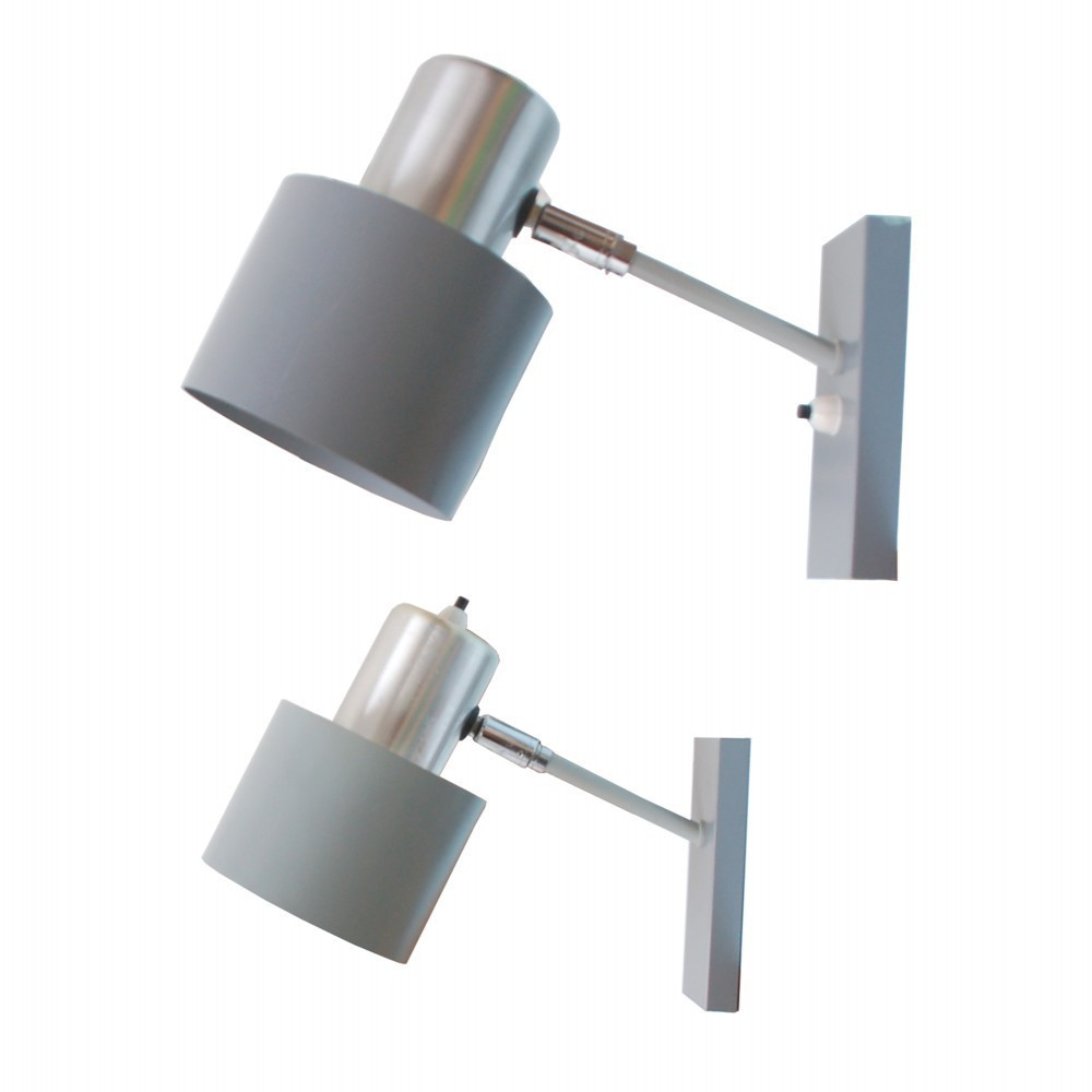 Pair of Alfa wall lamps by Jo Hammerborg for Fog & Mørup, 1960s