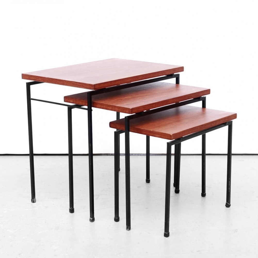 Nesting table by Cees Braakman for Pastoe, 1950s