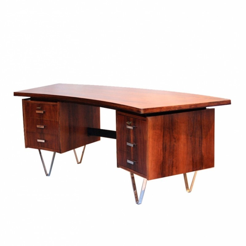 Boomerang Writing Desk from the sixties by Cees Braakman for Pastoe