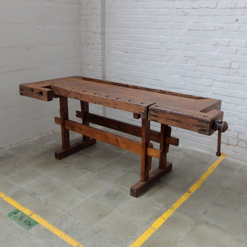 Antique Carpenter Bench Dining Table 1920s 55680