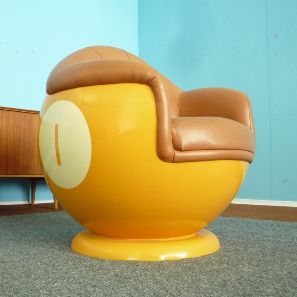 Plastic Billiards Ball Chair, 1970s