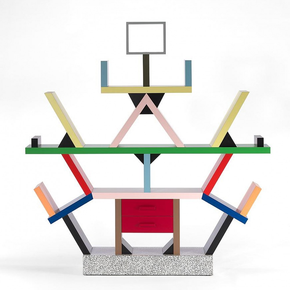 Carlton wall unit by ettore sottsass for memphis milano for Memphis sottsass
