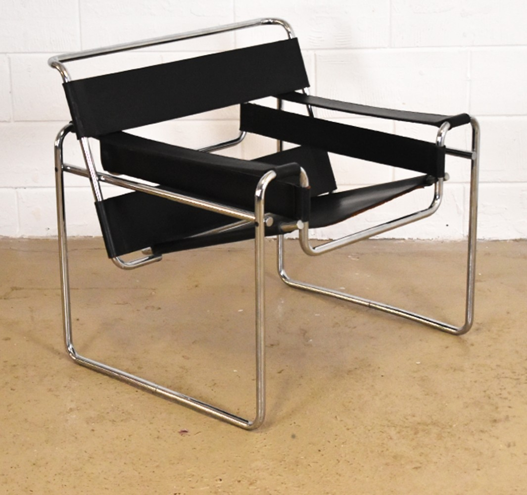 wassily lounge chair by marcel breuer for gavina 1950s 57094. Black Bedroom Furniture Sets. Home Design Ideas