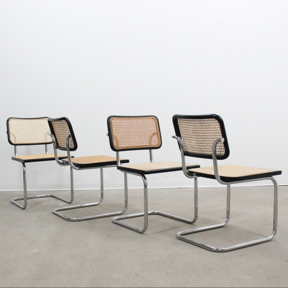 Set of 4 cesca dinner chairs 1960s 57259 for Sixties furniture design
