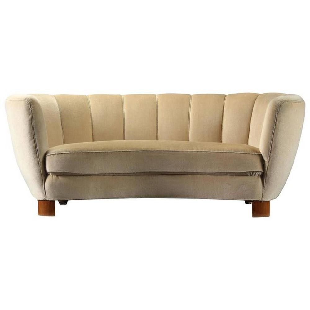 Dansk Sofa Scandinavian Design Sofa Fabric Rosewood 3 Seater 1960 69 Thesofa