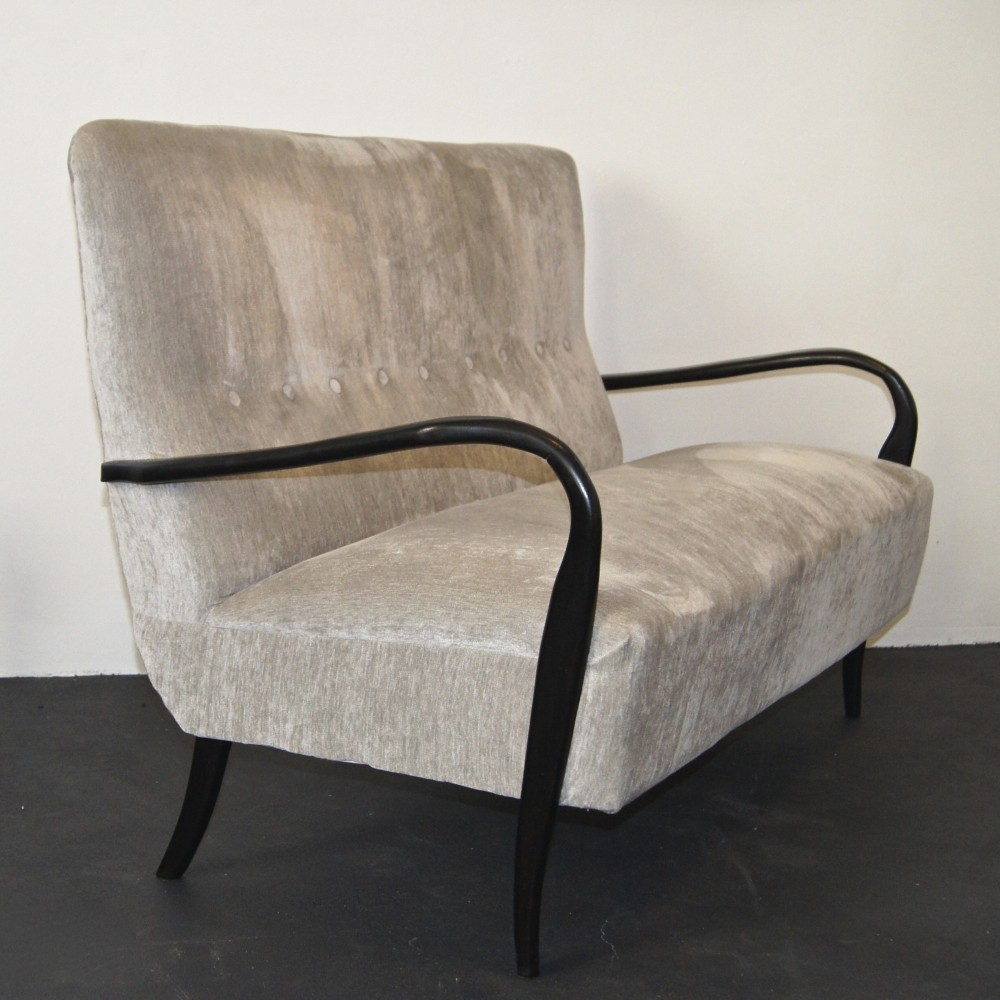 Mid century italian sofa by Guglielmo Ulrich with sculptural