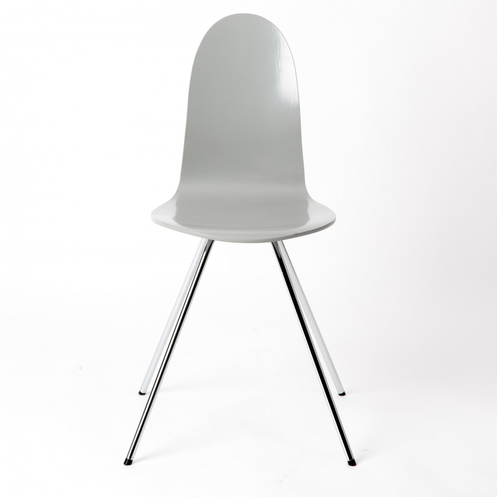 Grey plywood Tongue chair by Arne Jacobsen for Fritz Hansen