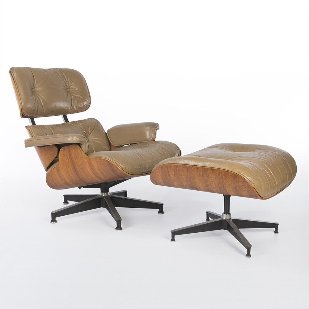 eames lounge chair ottoman by charles ray eames for herman miller 57758. Black Bedroom Furniture Sets. Home Design Ideas