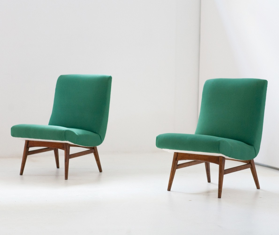 Vintage Herman Miller Chairs >> Pair of vintage lounge chairs, 1950s | #57970