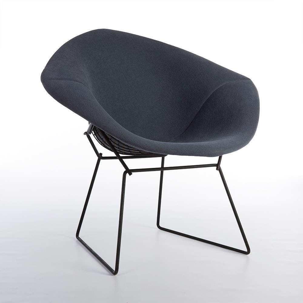 black wire diamond lounge chair by harry bertoia for knoll 1960s 58551. Black Bedroom Furniture Sets. Home Design Ideas