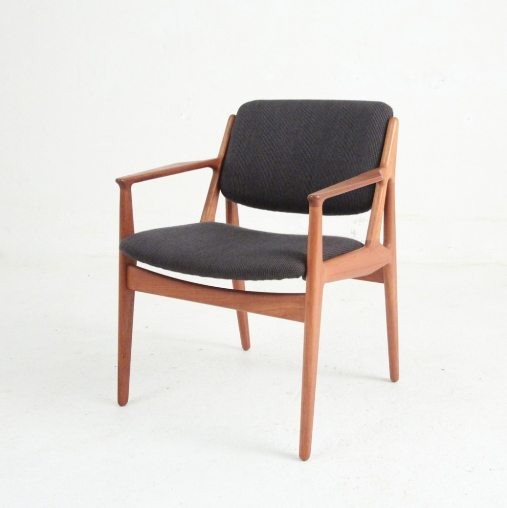 model lene arm chair by arne vodder for vamo sonderborg 1950s 58575. Black Bedroom Furniture Sets. Home Design Ideas