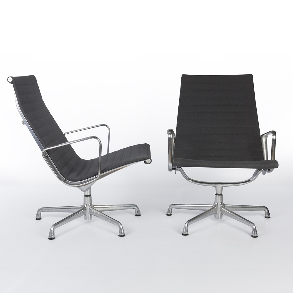 Pair of alu group office chairs by charles ray eames for for Eames alu chair nachbau