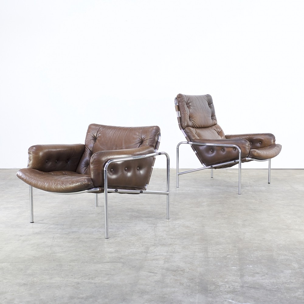 Pair of SZ09 Nagoya 1 lounge chairs by Martin Visser for Spectrum, 1960s
