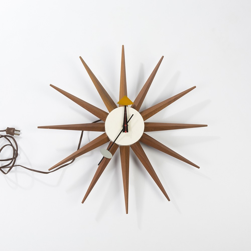 Original 1st edition nelson starburst midcentury wall clock