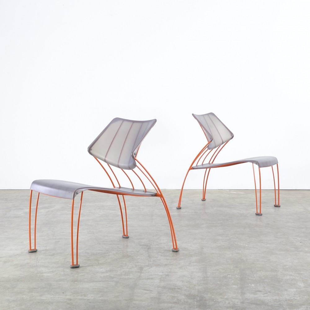 Pair of ps hasslo lounge chairs by monika mulder for ikea for Ikea club chair