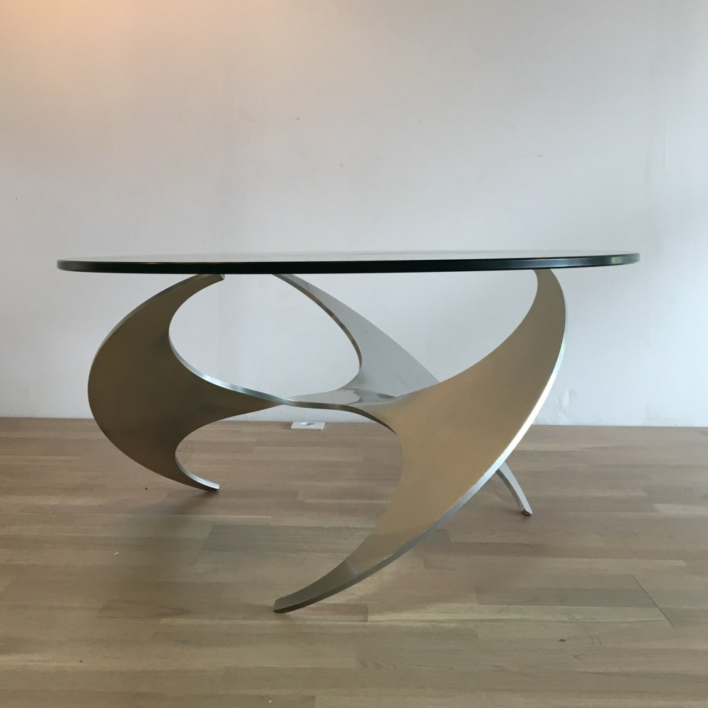 Propeller coffee table from the sixties by knut hesterberg for Ronald schmitt