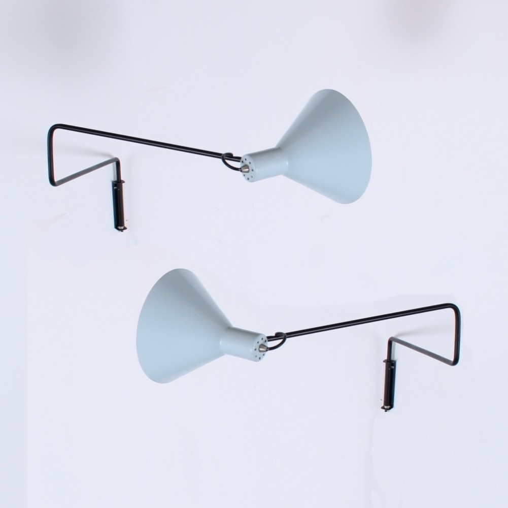 Dar lighting anvil anv0750s s1106 swing arm wall light in polished - 2 X Elbow Paperclip Swinging Arm Wall Lamp By J Hoogervorst For Anvia Almelo 1950s
